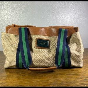 Tommy Hilfiger Monogram Faux Leather Purse